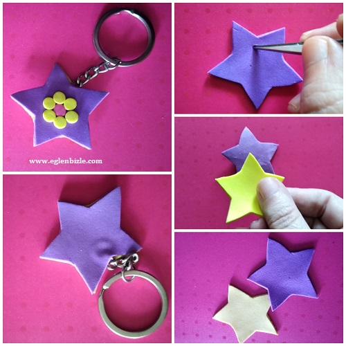 Eva ile Yıldız Anahtarlık Yapımı Resimli Anlatım