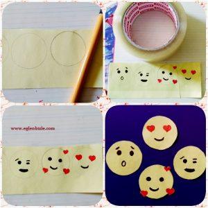 Kağıttan Emoji Sticker Yapımı Resimli Anlatım