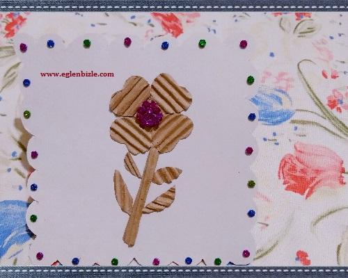 Karton Kutudan Çiçekli Duvar Süsü Yapımı