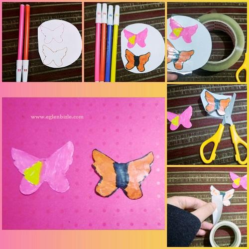 Kelebek Sticker Yapımı Resimli Anlatım