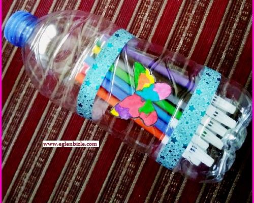 Pet Şişeden Kapaklı Kalemlik Yapımı