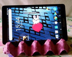 Yumurta Kartonu ile Tablet Standı Yapımı