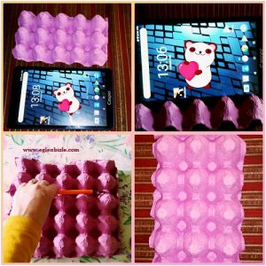Yumurta Kartonu ile Tablet Standı Yapımı Resimli Anlatım