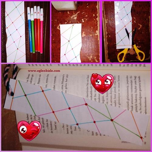 Kağıt ve Koli Bandı ile Kitap Ayracı Yapımı