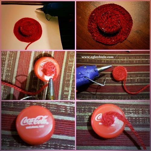Pet Şişe Kapağı ile Şapka Magnet Yapımı