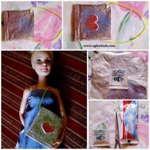 Barbie Bebek için Çanta Yapımı Resimli Anlatım