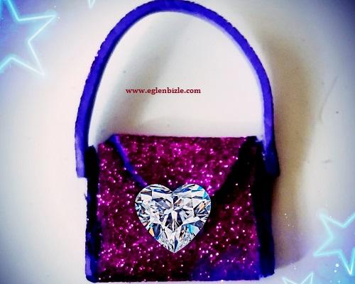 Barbie Bebek için Kolay Çanta Yapımı
