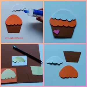 Cupcake Magnet Yapımı Resimli Anlatım