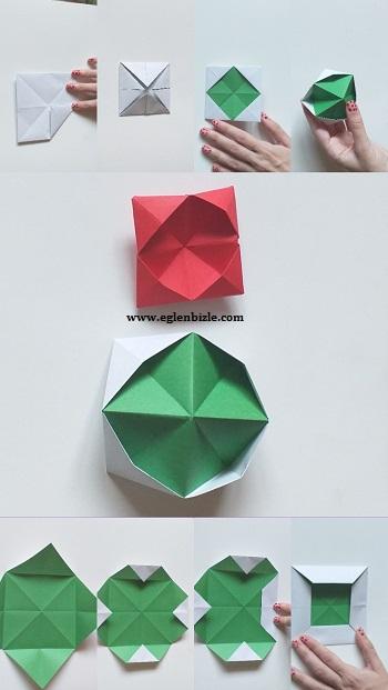Origami Pop İt Yapımı Resimli Anlatım