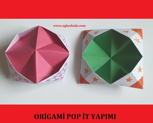 Origami Pop İt Yapımı