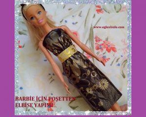Barbie için Poşetten Elbise Yapımı