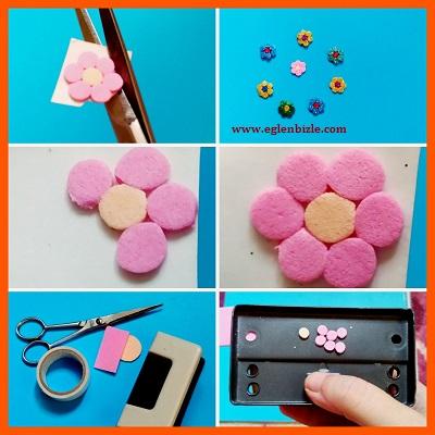 Eva ile Çiçek Sticker Yapımı Resimli Anlatım
