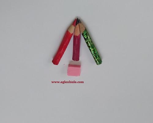 Gerçek Minyatür Kalem ve Silgi Yapımı