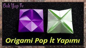 Origami Pop İt