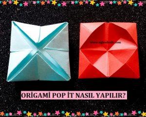 Origami Pop İt Nasıl Yapılır