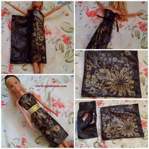 Poşetten Elbise Yapımı Resimli Anlatım