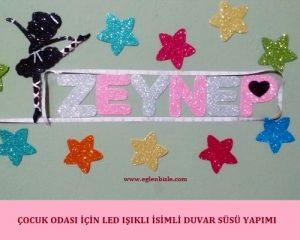 Çocuk Odası için Led Işıklı İsimli Duvar Süsü Yapımı