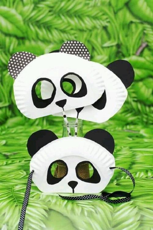Kagit Tabaktan Panda Maske Yapimi Eglen Bizle