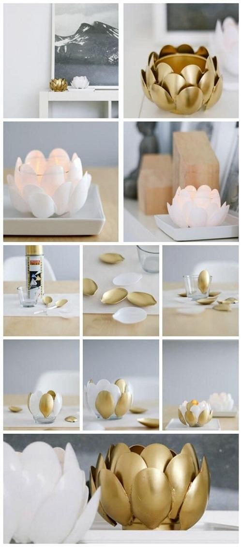 Plastik Kaşıklardan Dekoratif Kase Yapımı
