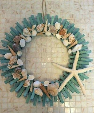 Mandal ve Deniz Kabukları ile Kapı Süsü Yapımı-4