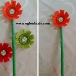 Pet Şişe Kapağından Çiçek Yapımı