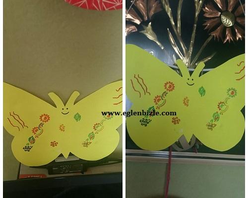 Fon Kartonundan Dekoratif Kelebek Yapımı