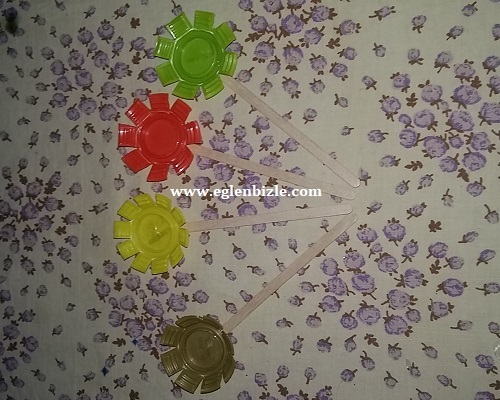 Pet Şişe Kapağı ile Çiçek Yapımı