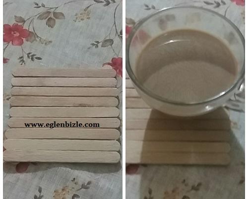 Dondurma Çubukları ile Bardak Altlığı Yapımı