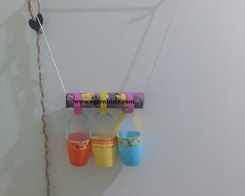 Meyveli Yoğurt Kabından Sepet Süs Yapımı