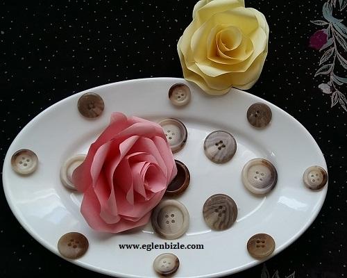 Düğme ile Porselen Tabak Süslemesi Yapımı