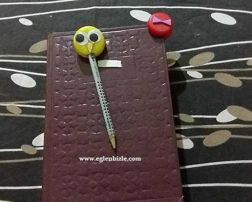 Pet Şişe Kapağı ile Kitap Ayracı ve Kalem Süsü Yapımı