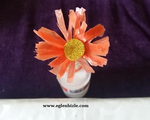 Poşet ile Çiçek Yapımı