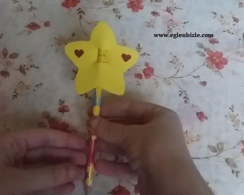 Eva ile Yıldızlı Kalem Süsü Yapımı