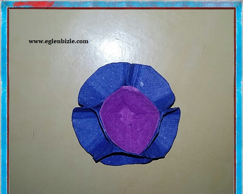 Yumurta Kolisi ile Büyük Çiçek Yapımı