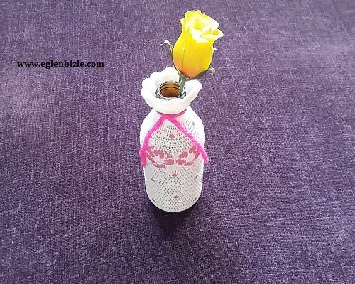 Şurup Şişesinden Vazo Yapımı