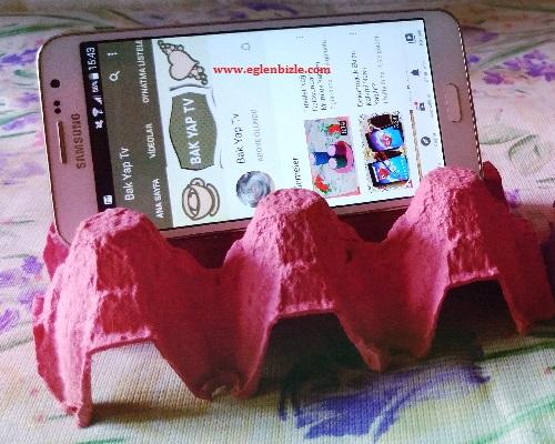 Yumurta Kartonundan Telefon Standı Yapımı