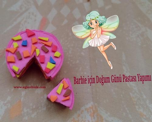 Barbie için Doğum Günü Pastası Yapımı