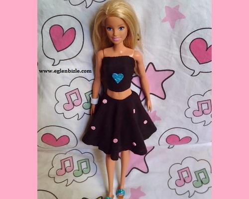 Barbie için Dikişsiz Elbise Yapımı
