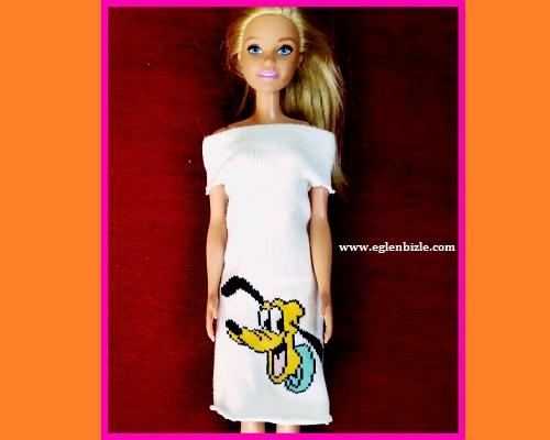 Barbie için Çoraptan Elbise Yapımı