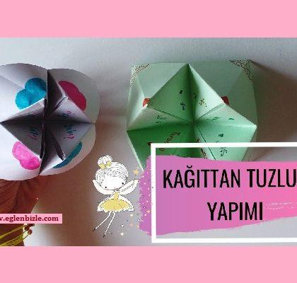 Kağıttan Tuzluk Yapımı